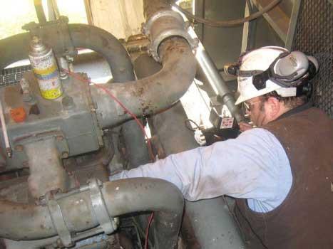 Диагностика компрессора природного газа WAUKESHAW 7042 с помощью видеоэндоскопа jProbe VJ-ADV