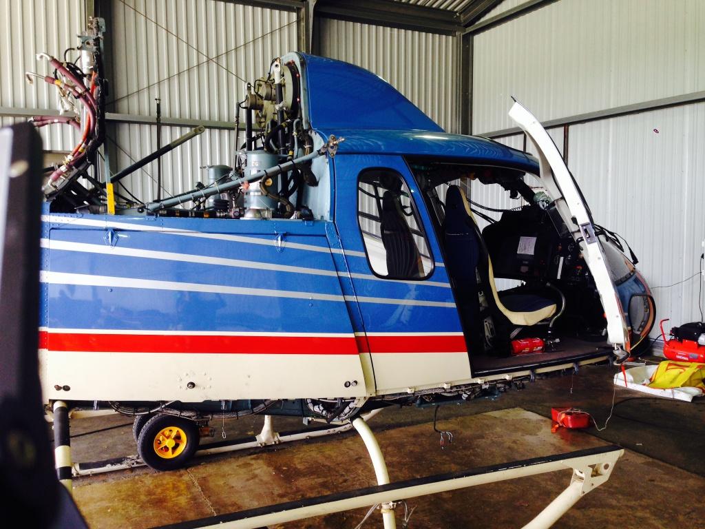 Эндоскопия вертолетных двигателей Turbomeca Arrius 1A1 вертолета Eurocopter AS при помощи видеоэндоскопа VJ-ADV